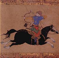 Otomanský lukostřelec na koni
